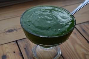 green sorbet smoothie
