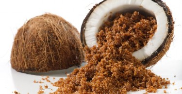 Coconut with coconut palm sugar