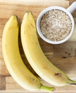 Oat and banana facemask for spots
