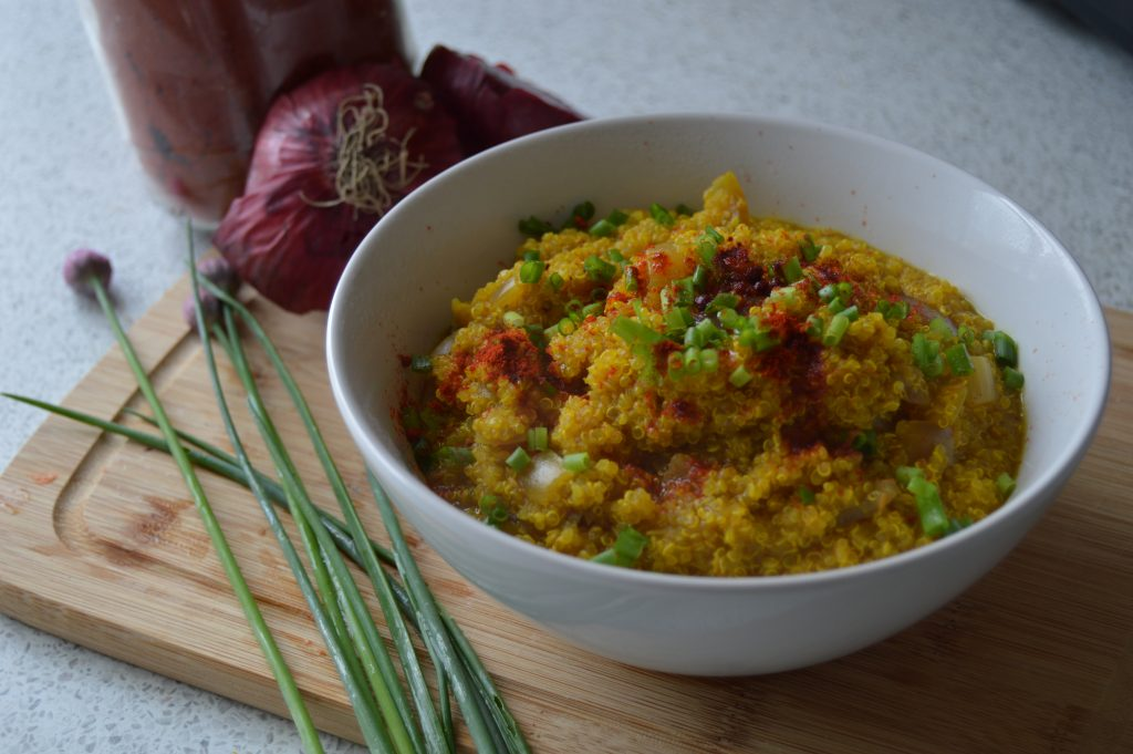 Curried Quinoa with chives and smoked paprika