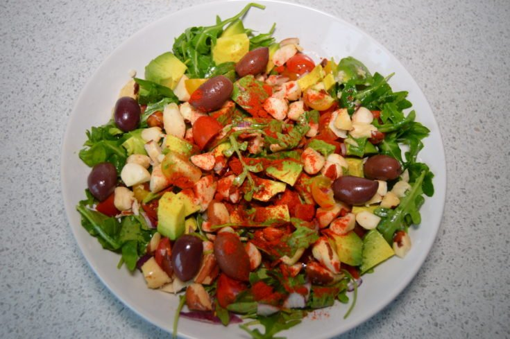 Rocket Brazil and Avocado Salad