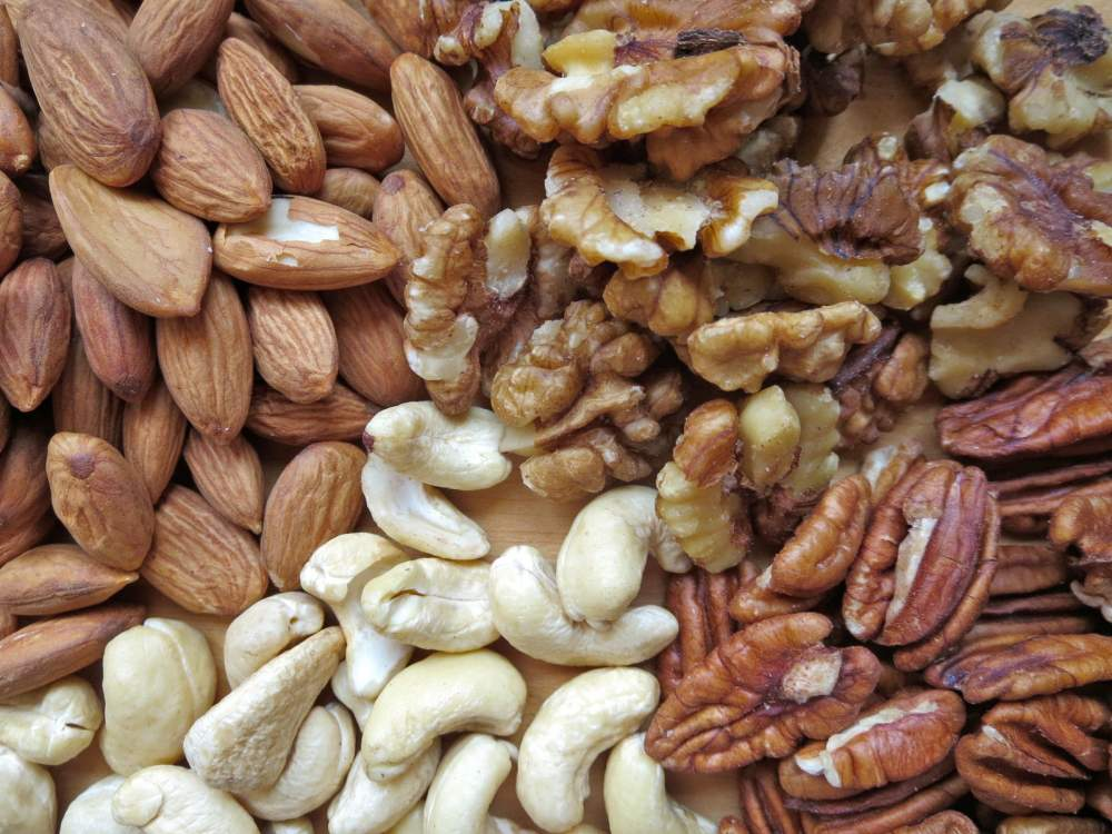 nuts almonds walnuts cashews and pecans