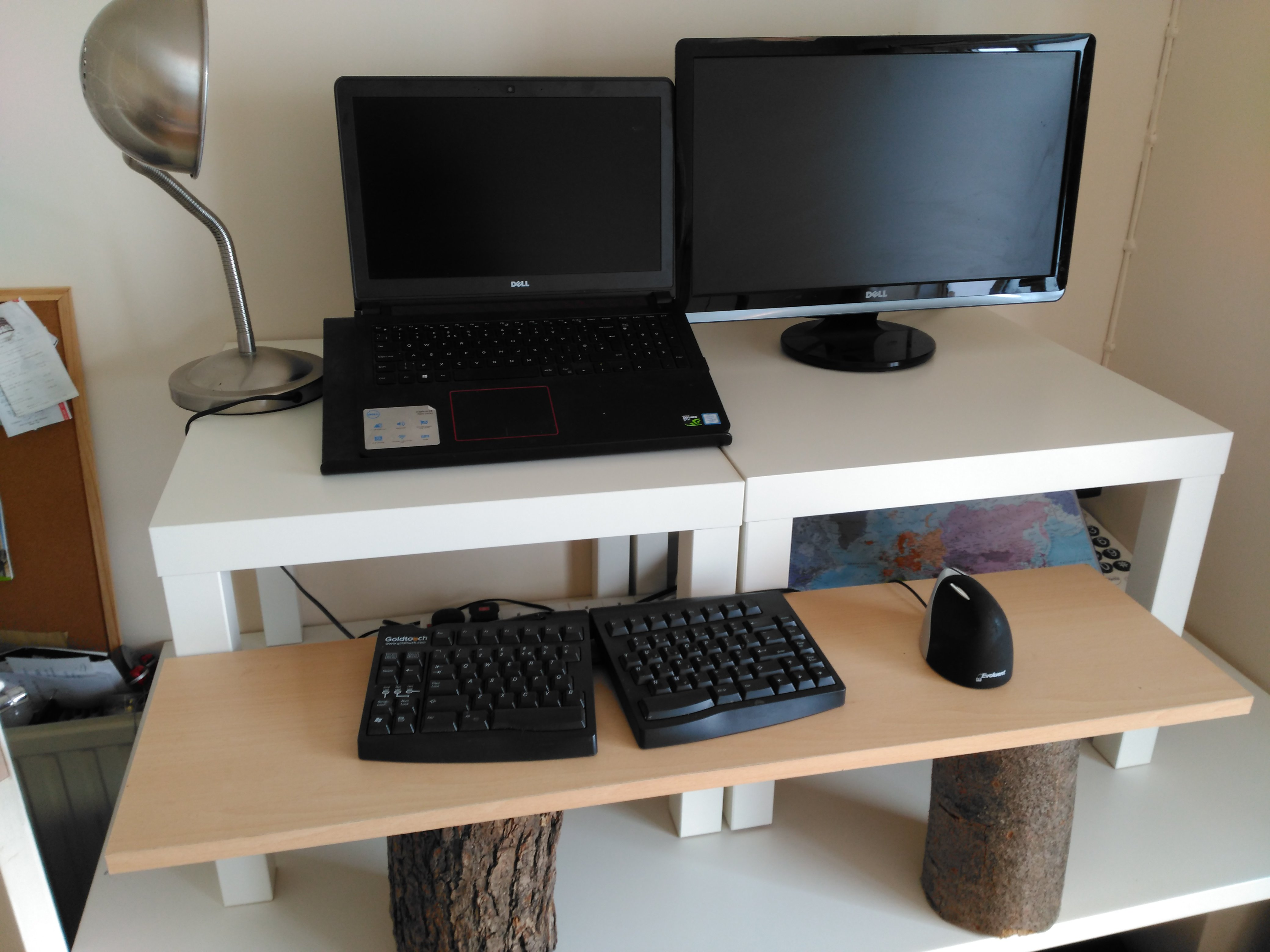 create a cheap easy and quick diy stand up desk nest
