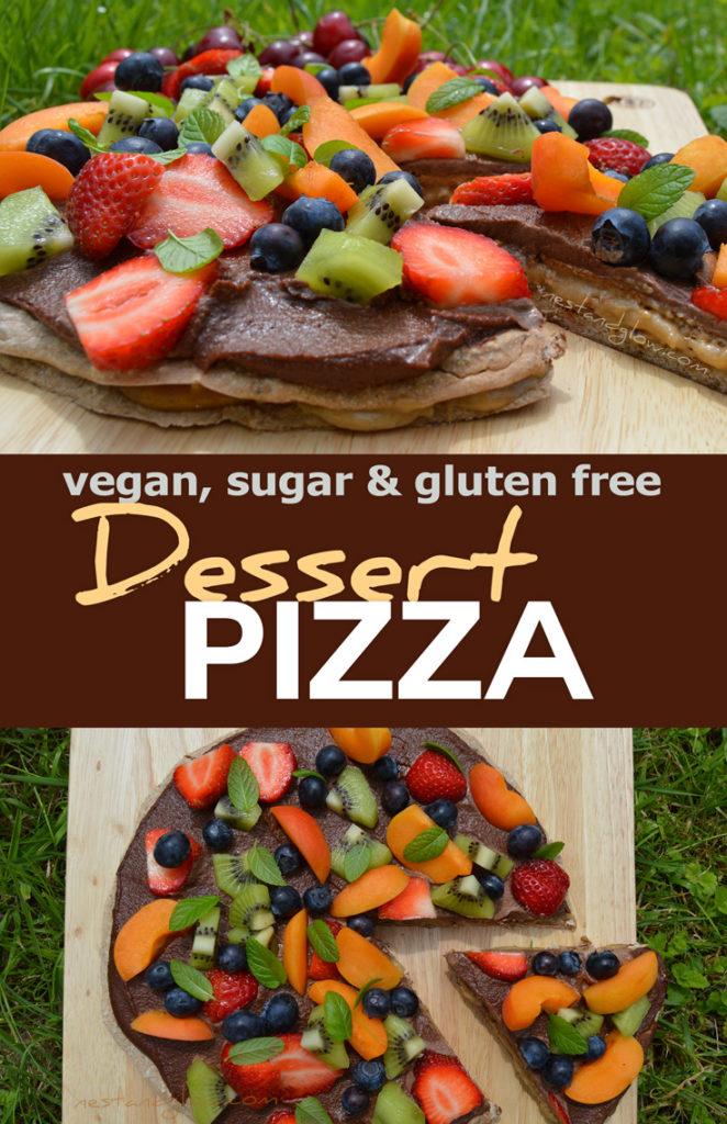 healthy desert pizza