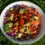 Carrot, Cabbage and Sprouted Sunflower Seed Salad