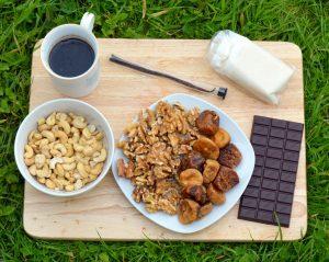 raw chocolate caramel slice vegan gluten free ingredients