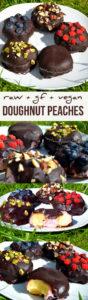Raw Chocolate Doughnut Peaches With Raspberry Cream Recipe