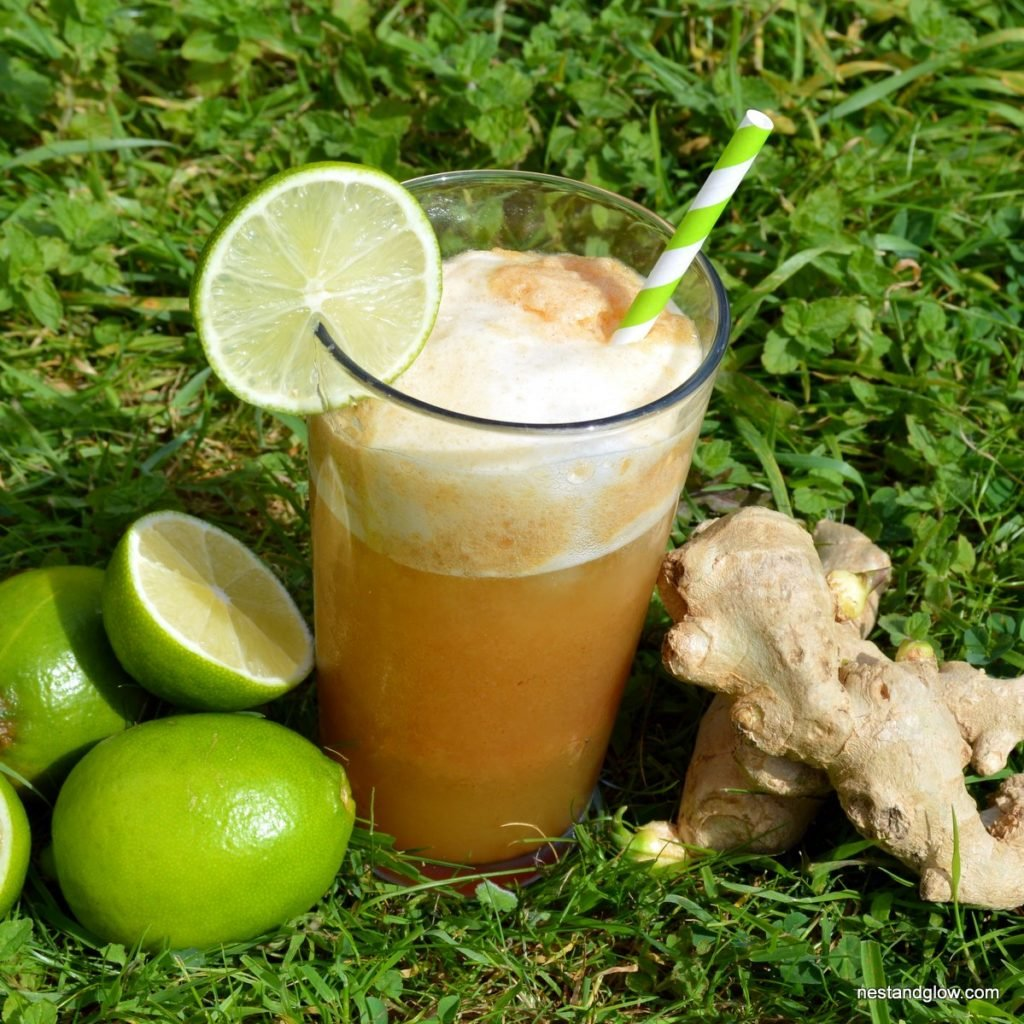 spicy ginger beer recipe made from just a few fresh and whole ingredients