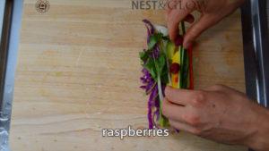 raspberries for tart