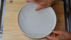 rice paper in water for seconds