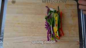 spring onion for mild spice