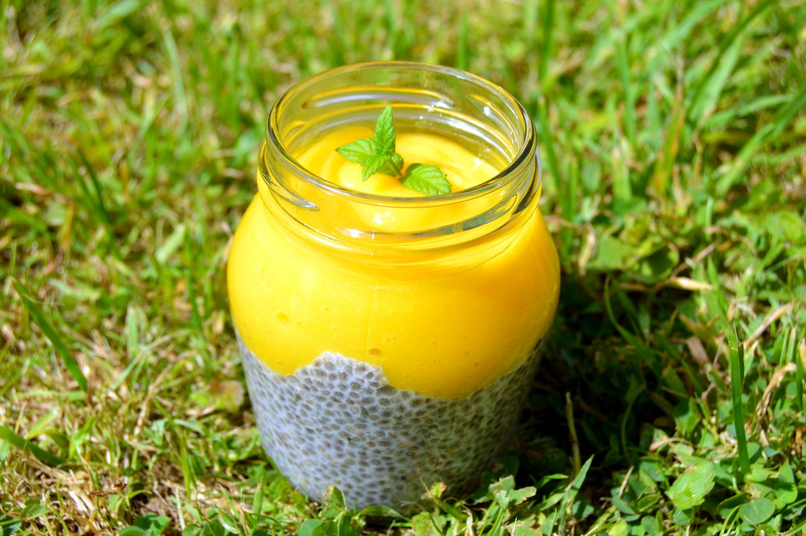 Mango Lime Chia Almond Pudding - Nest and Glow
