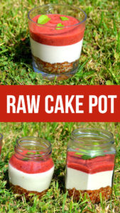 Raw strawberry cheesecake pots are a dairy free dessert made from nuts and fruit. All the flavour of a normal cheesecake but easy to make and high in nutrition . #rawvegan #dairyfree #veganrecipe #plantbased #cheesecake