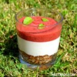 Raw Strawberry Cheesecake Pots