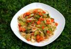 Cauliflower Leaves Noodle Stir Fry