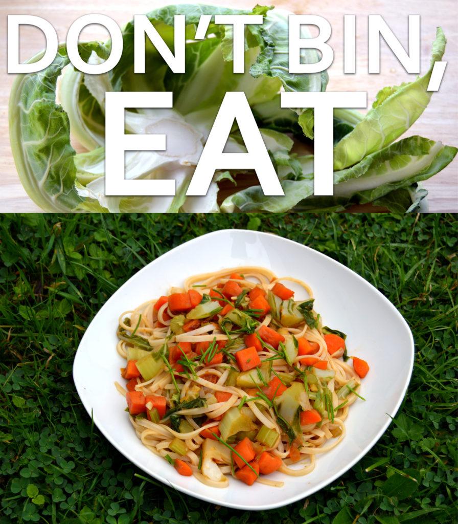 dont bin cauliflower green leaves eat them