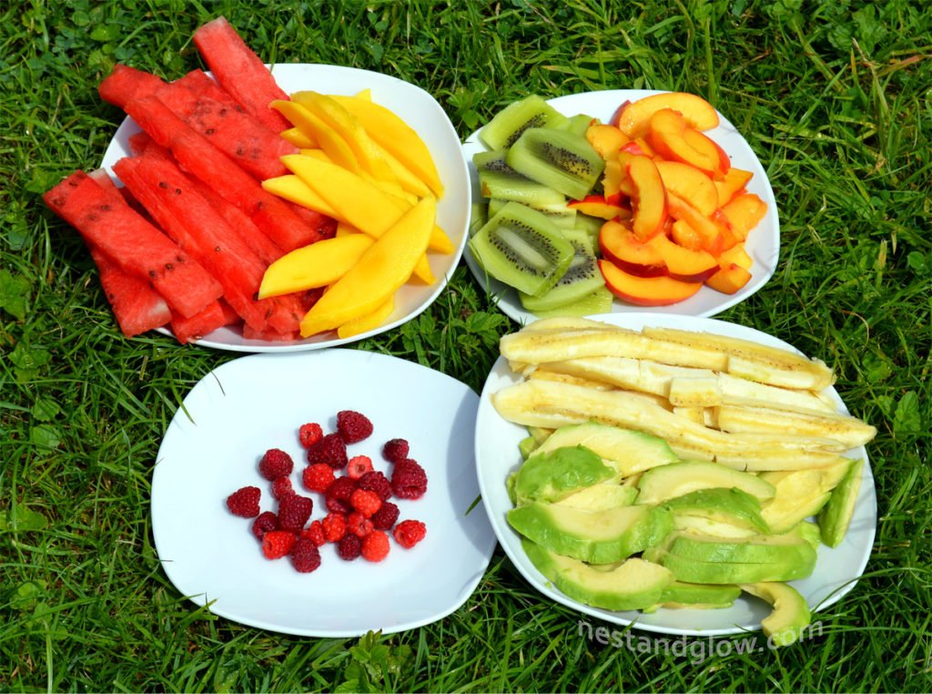 Ingredients for Fruity Summer Rolls with Salted Caramel Dip