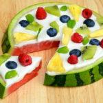 Raw Watermelon Fruit Pizza with Cashew Frosting