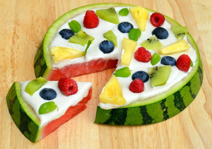 Watermelon Pizza - vegan