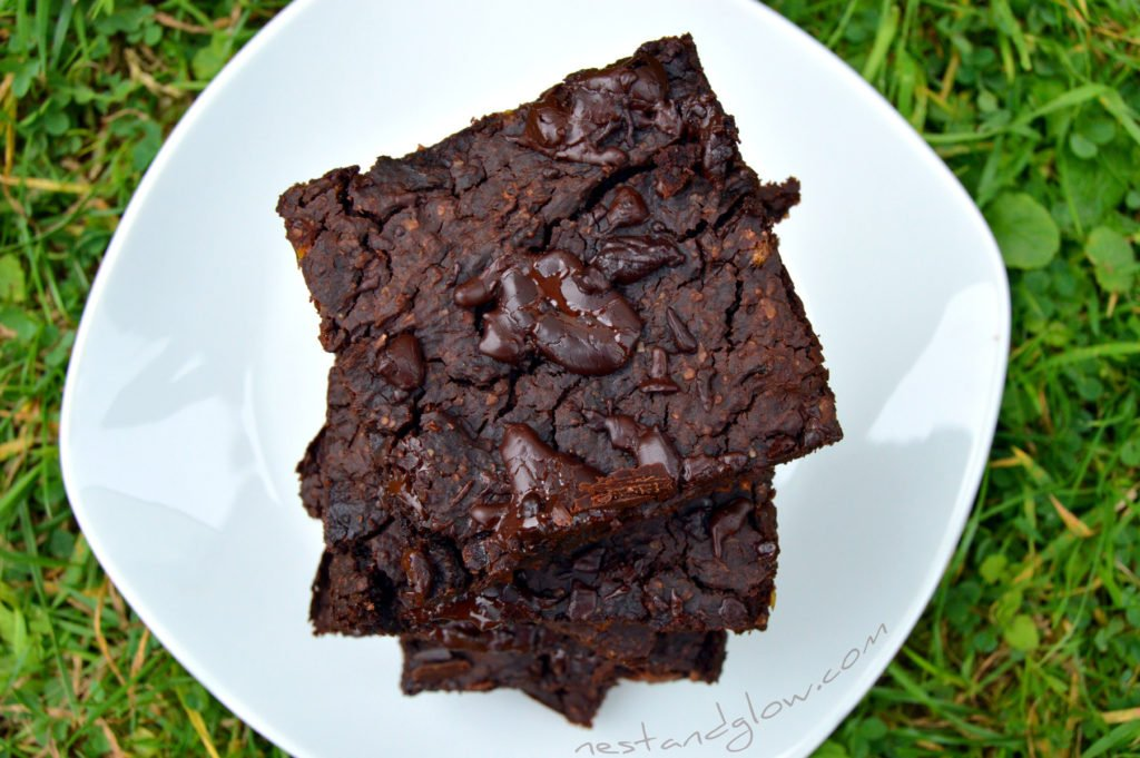 Mung bean chocolate brownies