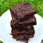 Healthy Chocolate Fudge Bean Brownies