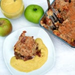 Healthy Oat Apple Crumble With Raw Custard