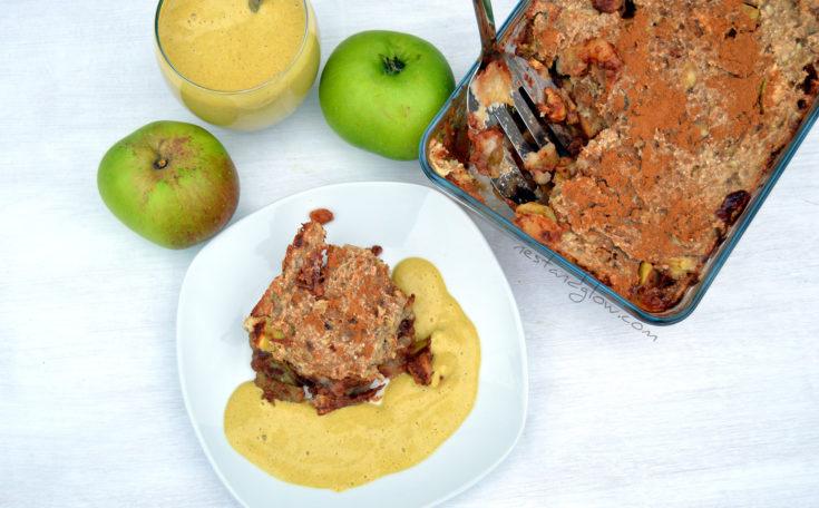 Healthy Apple Crumble with Cashew Custard