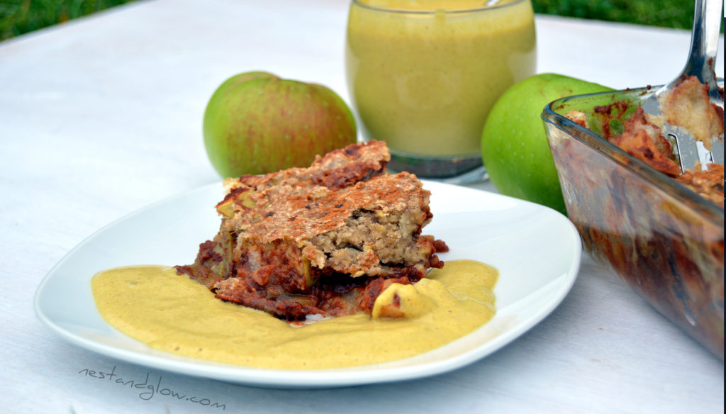 A piece of Healthy Oat Apple Crumble