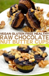 Vegan Gluten Free Raw Chocolate Almond Nut Butter Cups Recipe