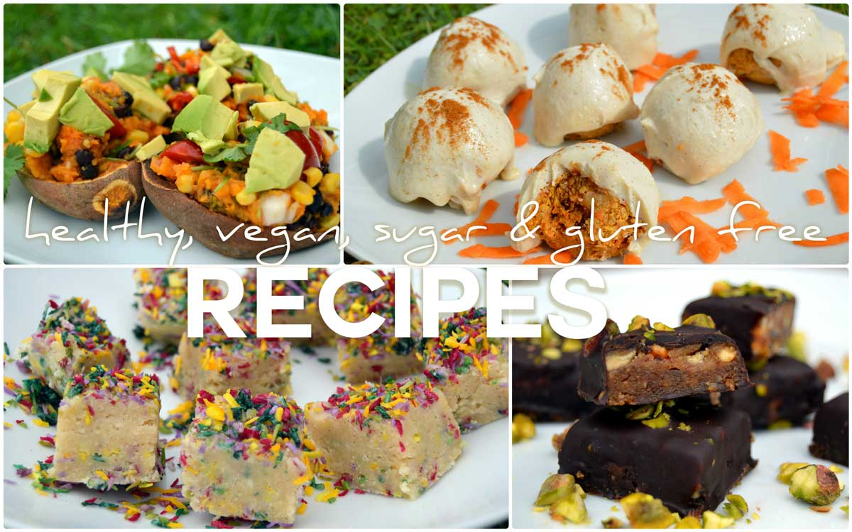 healthy vegan recipes that are sugar free, dairy free and gluten free