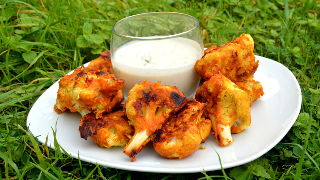 vegan wings gluten free recipe with raw dip