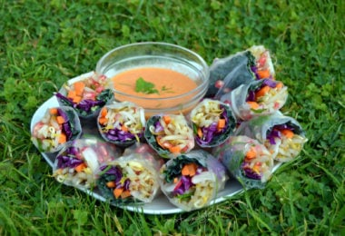 Winter Rolls with Raw Sweet Chilli Dip