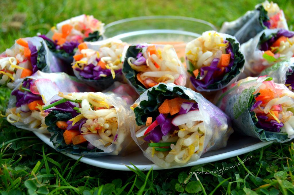 Winter Rolls with Raw Sweet Chilli Dip Recipe
