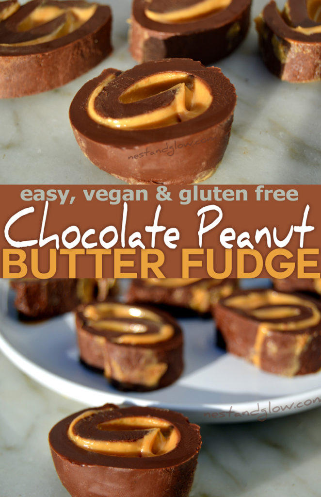 Chocolate peanut butter fudge - dairy free and easy recipe