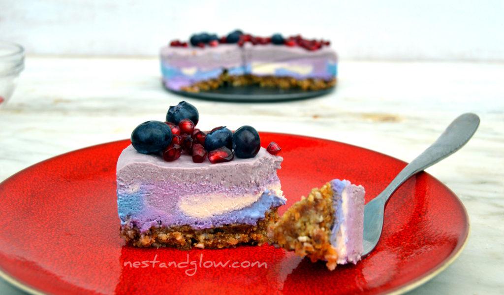 cotton candy cashew cheesecake
