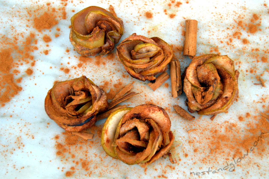 healthy gluten free apple roses