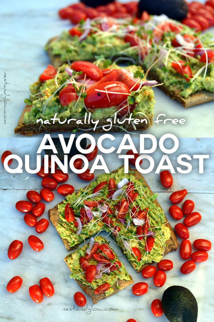Easy recipe for gluten free Avocado on Quinoa Bread Toast