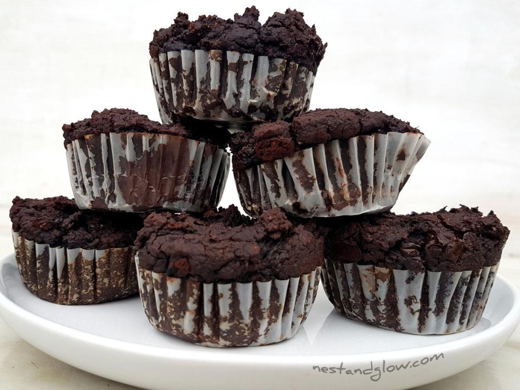 Easy Black Bean Chocolate Fudge Muffins Recipe