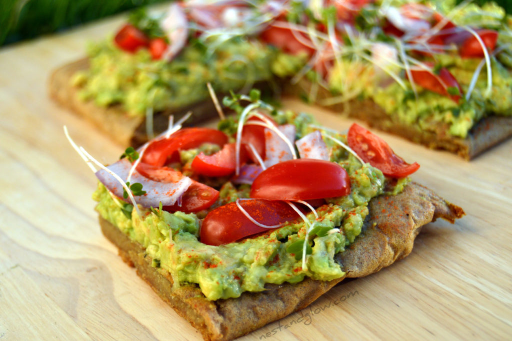 Avocado on Quinoa Toast healthy recipe