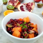 Winter Fruit Salad – Pomegranate, Persimmon and Clementine