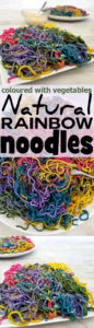 Natural Rainbow Noodles with Vegetable Dye