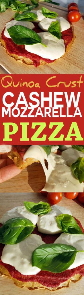 Easy recipe for cashew mozzarella quinoa crust