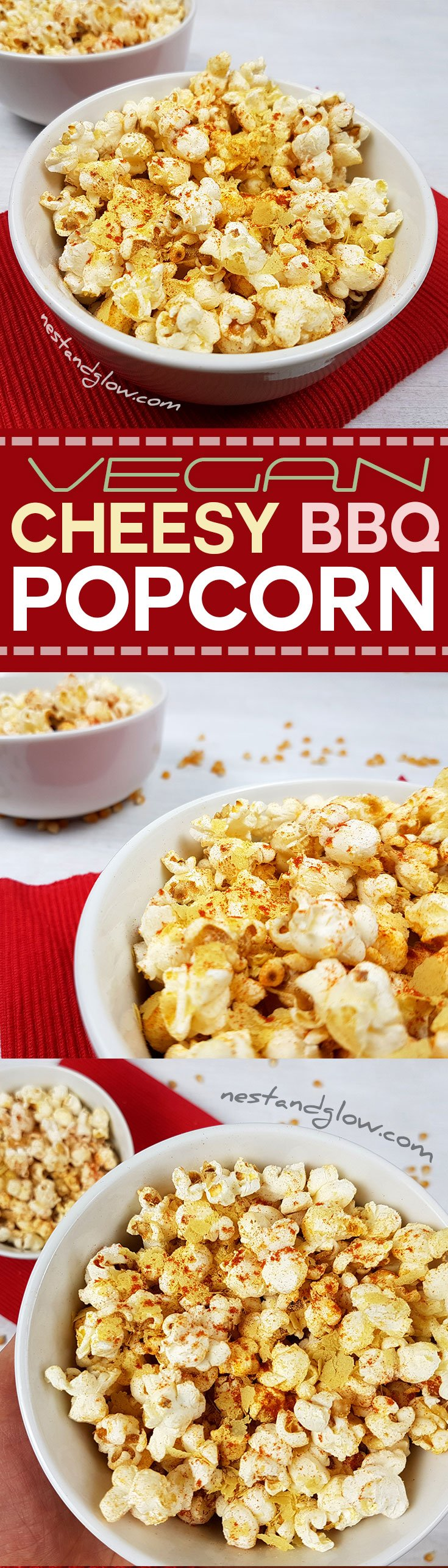 Cheesy Vegan BBQ Popcorn Healthy Recipe (Dairy and Gluten Free) - Nest ...