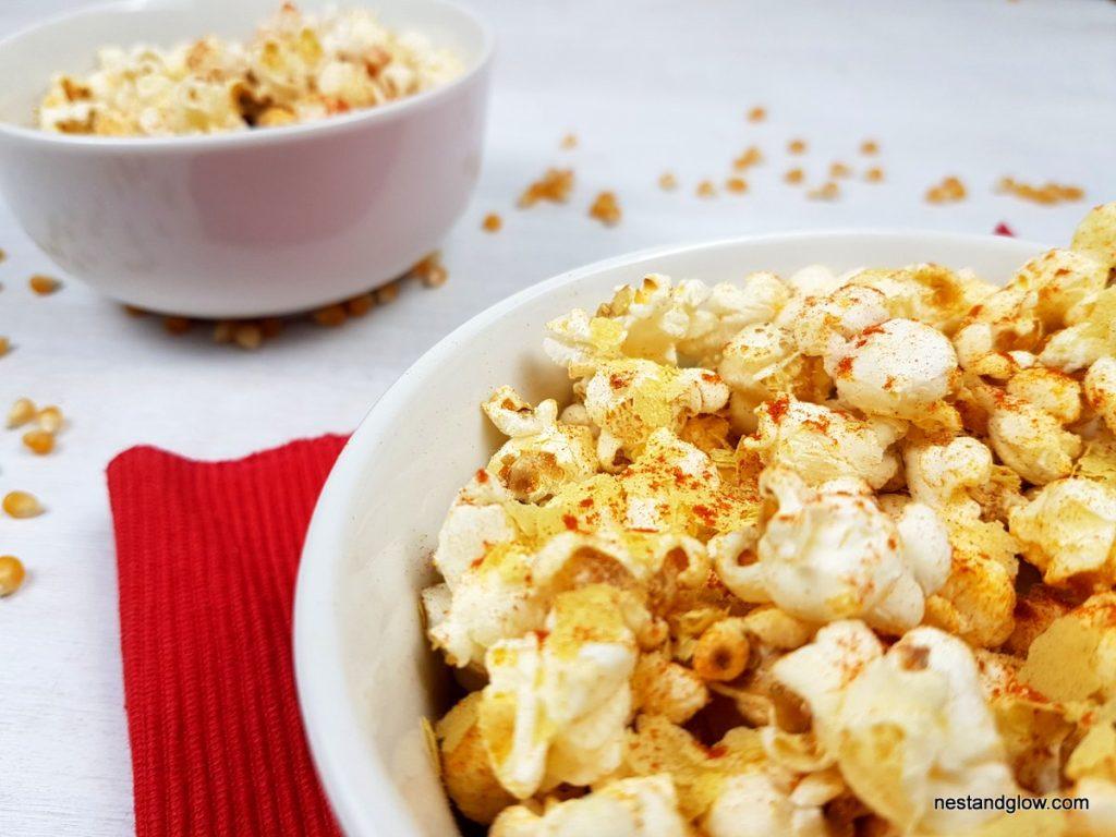 Dairy free cheesy vegan bbq popcorn