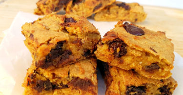 Chocolate Chip Almond Chickpea Blondies Recipe