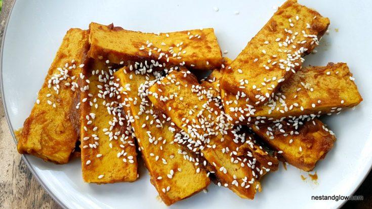 Crispy Tofu Teriyaki - oil free