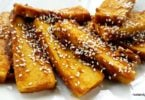 crispy tofu in homemade teriyak recipe