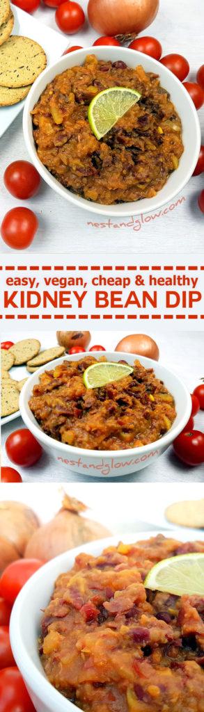 Easy healthy kidney bean dip
