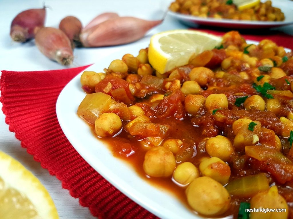 Soured Chickpea Lemon Curry Close Up