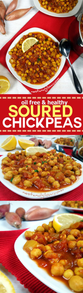 Easy recipe for soured chcickpea curry